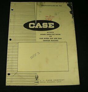 CASE Hyteco Power Angle Tilt Dozer for 310F 310G Crawler Parts Manual Book OEM
