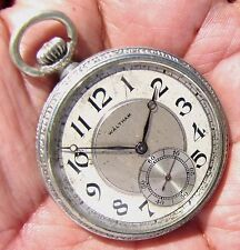 Antique 12 Size 19 Jewels Pocket Watch Waltham P. S. Bartlett