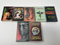 Cassette Tape Lot Of 7 DEF LEPPARD POISON Motley Crew Rolling Stones & Tull