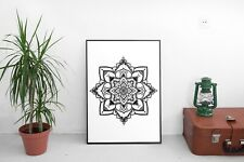 Mandala Zentangle Indian Pattern Cute Wall Décor Sign Poster Print Free Postage