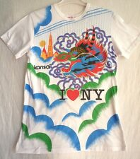 vintage KANSAI YAMAMOTO I LOVE NY DRAGON TEE SHIRT SIZE S-M