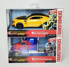 Hollywood Rides Metals Diecast - Transformers Bumblebee & Optimus Prime