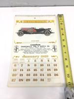 Vintage Goodyear 1929 Wall Calendar~1985 Year Featuring 1929 Model Cars Unused
