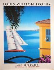 Signed Razzia Poster, Louis Vuitton Trophy 2009 Nice Cote d Azur, Mount on Linen