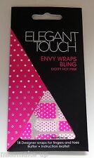 Elegant Touch Envy Nail Wraps Dotty Hot Pink
