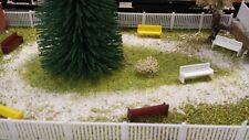 Lot 18 bancs de parc Ech 1/87 HO décor train diorama compatible FALLER  maquette