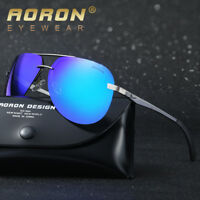 NEW Mens Polarized Aviator Sunglasses Mirrored Outdoor Driving Glasses Eyewear