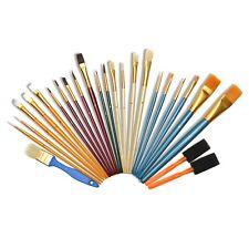 25er Malpinsel Set Pinselset Pinsel Rundpinsel Flachpinsel Schaumstoffpinsel