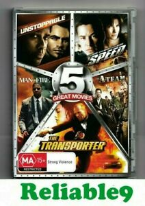 Unstoppable+Speed+Man on fire+The A-Team+The Transporter 5DVD 2012 Fox Australia