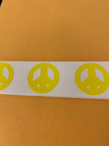 Peace Sign - 100 Tanning Stickers - Scrapbooking Stickers