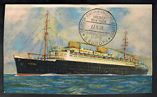1930 USA Postcard Cover Maiden Voyage SS Europa Ship PAqueboat to CAnada