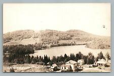 Lac Gagnon Quebec RPPC Vintage Photo Postcard CPA Cabins AZO 1940s