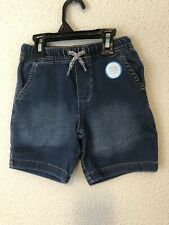 Carter's boys baby jeans denim SHORTS stretch elastic waist 18 M NEW $24 #O23