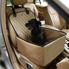 Plaids et protections beige pour siège et coffre de transport des chiens