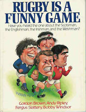 """Rugby is a Funny Game"" by BROWN/ RIPLEY/ SLATTERY/ WINDSOR 1987 hardback book"