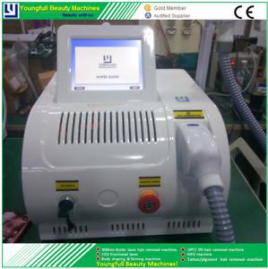Permanent hair removal SR+HR OPT machine e-light skin whiten epilator CE