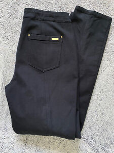 Chico's So Slimming Pants 0.5/6 Small Black Stretch Flat Front Career