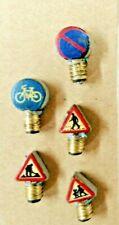 116)Schraubbirnen HO mit Verkehrssymbolen 12-16V - techn. ok -