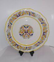 "MERIDIANA CERAMICHE Vintage Italian Art Pottery 11"" Dinner Plate"