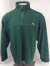 Vtg 90s Counter Culture 1/4 Zip Pullover Fleece Jacket Green Sz L Skate Surf