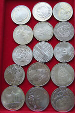 COLLECTION LOT GERMANY SILVER 5 MARK 15 pc 191g  #xxj 014