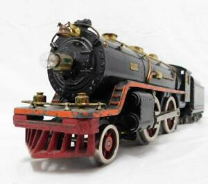 Prewar Lionel Trains Standard Gauge 390E 2-4-2 Steam Engine &Tender Runs Ornge s