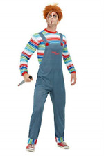 Chucky Mens Costume, Blue, with Top & Dungarees -  (Size: Chest 34`.. COST-M NEW