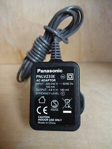 Panasonic Phone Plug PNLV233E UK AC Adapter Cable Power Supply