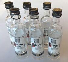 6 EMPTY KETEL ONE Straight Vodka 50ml Clear Glass Miniature Liquor Bottles