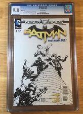 Batman 8, 1:200 sketch cover New 52, CGC 9.8, graded NM/MT