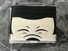 Coach Disney 69242 Slim Card Case/Holder Black Leather Mickey Mouse Squinting
