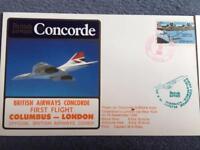 British Airways Concorde premier vol Columbus -Londres Couverture 10 ème