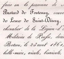 Laurence Bastard De Fontenay Louis Leuze Saint-Desery 1861