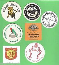 #D239. #7. LOT OF SEVEN  RUGBY LEAGUE CLUB  DRINK  COASTERS