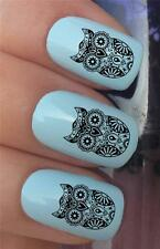 WATER NAIL TRANSFERS DAY OF THE DEAD SUGAR SKULL OWL TATTOO DECALS STICKERS *374