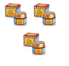 3X10g TIGER BALM RED ORIGINAL-For Fast Headache,Muscle,Joint  & Body pain Relief
