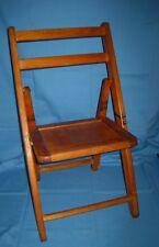 Vtg Small Wood Slat Folding Childs Chair Acme Chair Company!