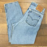 LEVI'S Vtg 90's 512 Distressed Jeans Slim Fit Straight Leg Womens Size 12 REG S