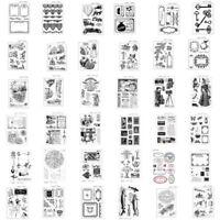 Rubber DIY Stamp Sets SiliconeTemplate Die Card Album Decor Cutting Scrapbooking