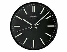 Seiko Luminous Contemporary Black Dial Wall Clock QXA521JLH