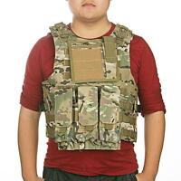MOLLE Military Army Combat Paintball Vest Light Camouflage Nylon Adjustable