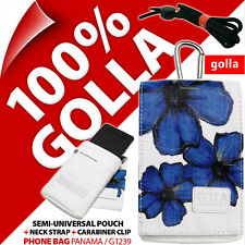 Golla Blu Cellulare Custodia Borsa Per iPhone 4 S 5 S Samsung Galaxy SE S2, S4 MINI