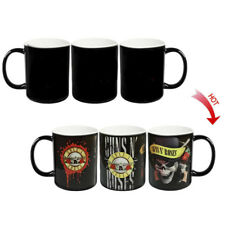 █ Guns N' Roses Hot Water Color Changing Magic Cup Coffee Mug BS004