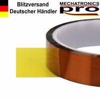 20mm x 33m Hitzebeständiges Klebeband Polyimid Kapton-Tape für 3D Drucker