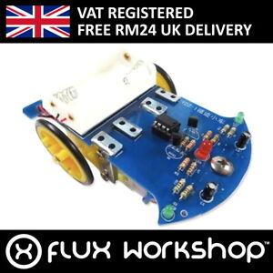 2 Wheel Line Following Robotic Car DIY Kit Frame Unsoldered Flux Workshop