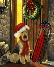 """Precious Pet Garden Flag - Airedale Terrier Welcome Home 12"""" x 18"""" ~ Charity!"""