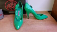 "Wild Pair NOS Women's Green Leather 4"" Heel sz 6 Never Worn IOB"