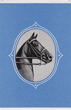 #41 1 single vintage single playing swap card - Horse Head   - JS