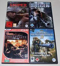 4 PC SPIELE SET - SNIPER ELITE ART OF VICTORY MARINE SHARPSHOOTER 3 PATH SHOOTER