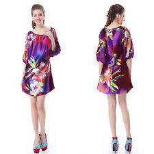 Regular Size Floral Casual Shift Dresses for Women
